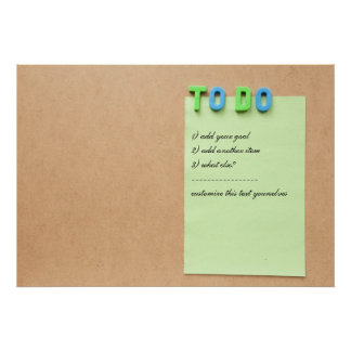 TO DO list - customise with your own items Poster