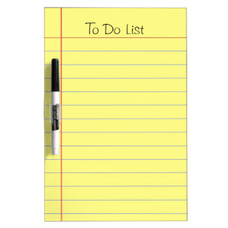 To Do List Dry-Erase Boards