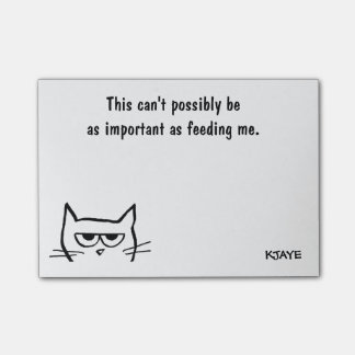 To Do List - Feed Angry Cat First - Funny Post-Its Post-it Notes