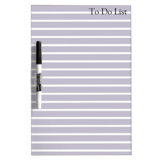 To do List Grocery Stripes Grey Whiteboard Dry-Erase Whiteboard