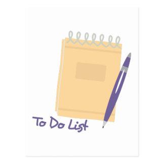 To Do List Postcard