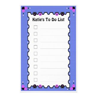To Do List Stationery