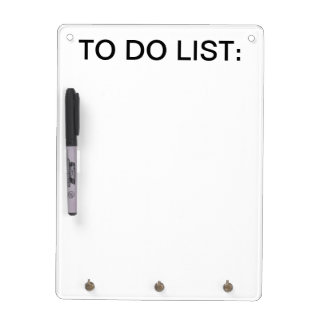 To Do List Whiteboard w/ Keychain holder Dry Erase Boards
