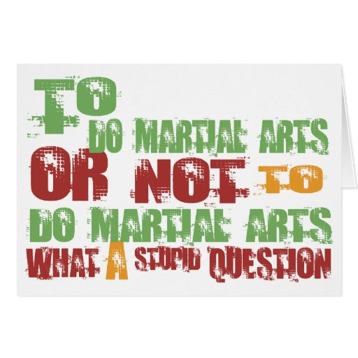 To Do Martial Arts Card