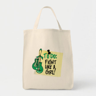 To Do Note - Fight Like a Girl - Liver Disease Grocery Tote Bag
