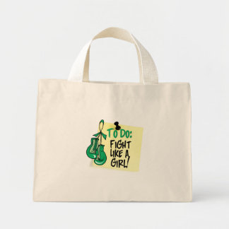 To Do Note - Fight Like a Girl - Liver Disease Mini Tote Bag
