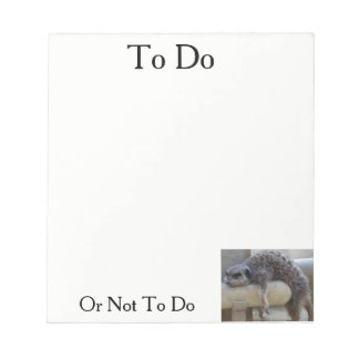 To Do Or Not Notepads