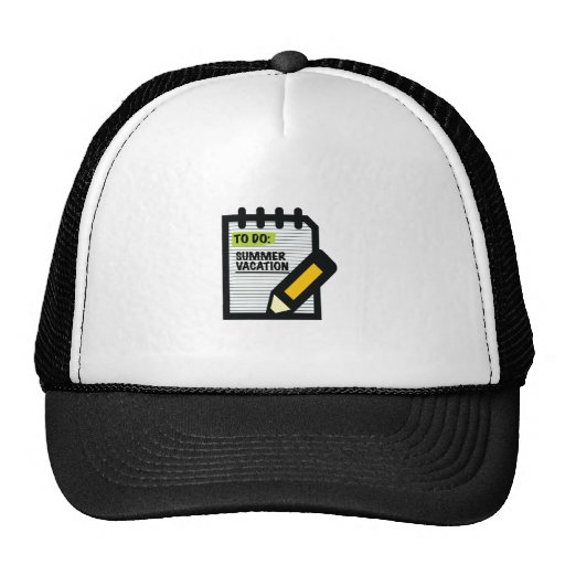 To Do Summer Vacation Trucker Hats