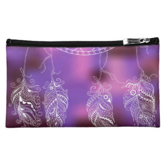 to dreamcatcher with feathers cosmetic bags
