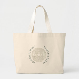 To End is to Begin, To Begin is to End, Teal Large Tote Bag