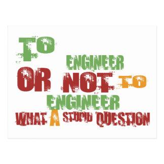 To Engineer Postcard