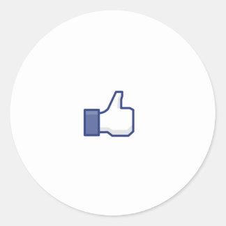 to enjoy Facebook Classic Round Sticker