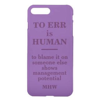 """To Err is Human"" custom monogram phone cases"