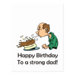 To father: Happy birthday to a strong dad Postcard