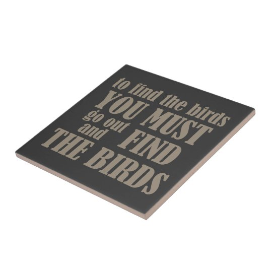To Find the Birds Small Square Tile