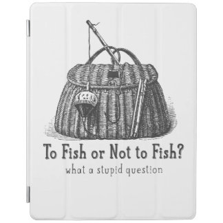 to fish or not stupid question vintage tackle box iPad cover
