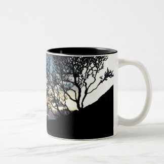 To get late in the paradise Two-Tone coffee mug
