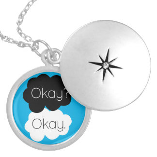 To glue Okay? Okay! - Collection books Round Locket Necklace
