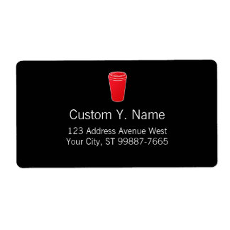 To Go Cup Red (Paper To-Go) Shipping Label