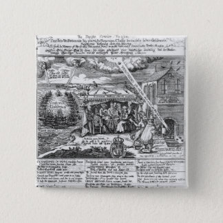 To God, in Memory of his Double Deliverance 15 Cm Square Badge