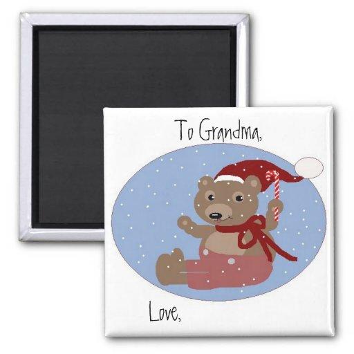 To Grandma, Love... (Personalize) Fridge Magnet