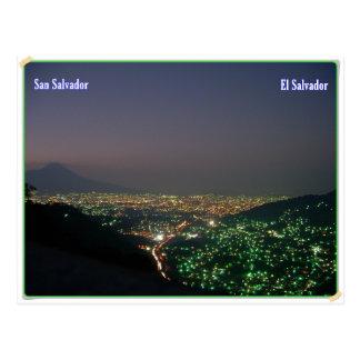 To grow dark of San Salvador Postcard