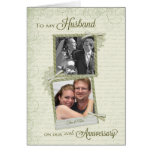 To Husband on __th Anniversary - Custom Then & Now Greeting Card