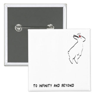 TO INFINITY 15 CM SQUARE BADGE