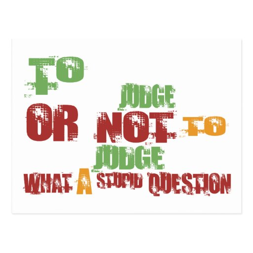To Judge Post Card