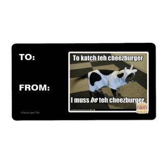 To katch teh cheezburger shipping label