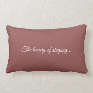 To kiss The luxury or sleeping old roze. Lumbar Cushion