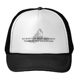 To Knit or Not to Knit-Fun Products for Knitters Trucker Hats