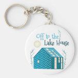 To Lake House Basic Round Button Key Ring