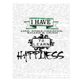To Learn Happiness Postcard