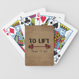 To Lift Bodybuilding Bicycle Playing Cards