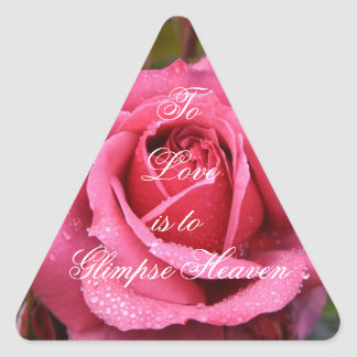 To Love is to Glimpse Heaven Triangle Sticker