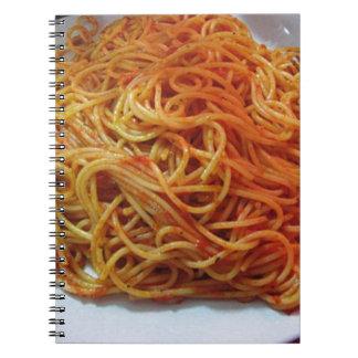 To Love Spaghetti Spiral Notebook