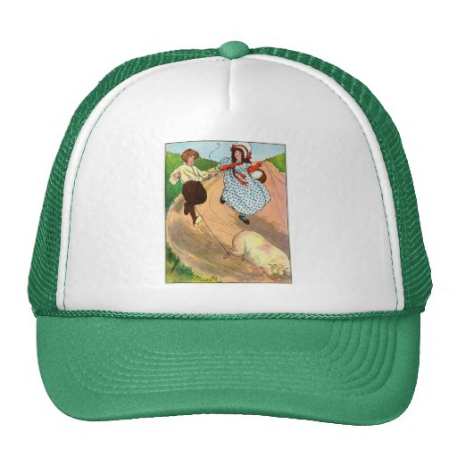 To market, to market, to buy a fat pig. mesh hat