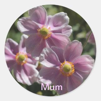To Mum with Love Round Sticker