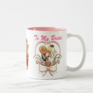 To My Bride (1), Precious Wedding Couple Two-Tone Mug