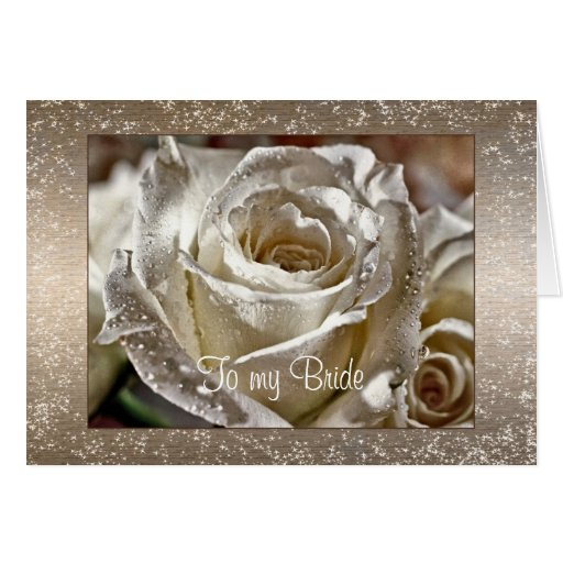 To my Bride or Husband Wedding Day Greeting Cards