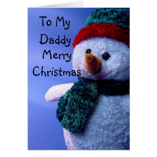 To My Daddy, Merry Christmas Greeting Card