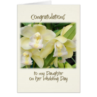 To my daughter on her wedding day greeting card