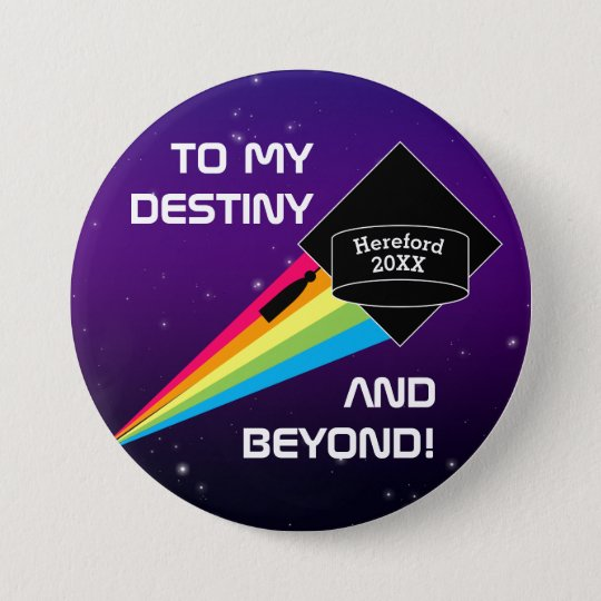 To My Destiny Personalised Graduation Pin