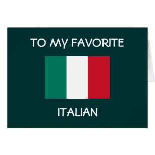 Italian birthday cards invitations zazzle to my favorite italian happy birthday card bookmarktalkfo