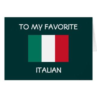 """TO MY FAVORITE ITALIAN"" HAPPY BIRTHDAY CARD"