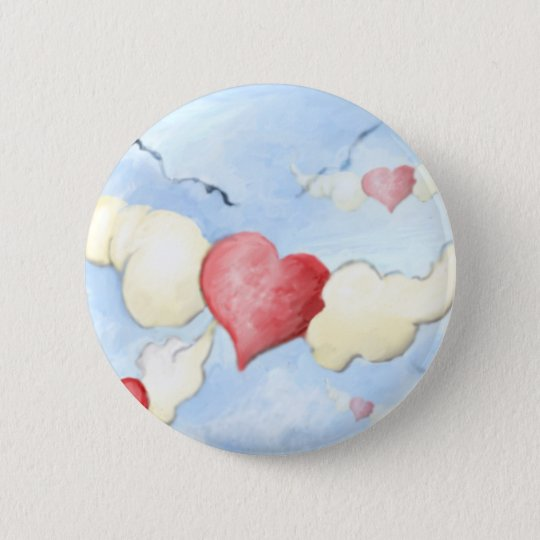 **to my friends with love** 6 cm round badge