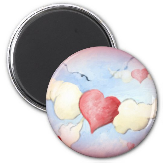 **to my friends with love** 6 cm round magnet