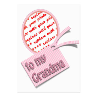 To My Grandma Oval Photo Frame Large Business Cards (Pack Of 100)
