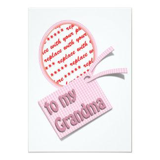 To My Grandma Oval Photo Frame 13 Cm X 18 Cm Invitation Card